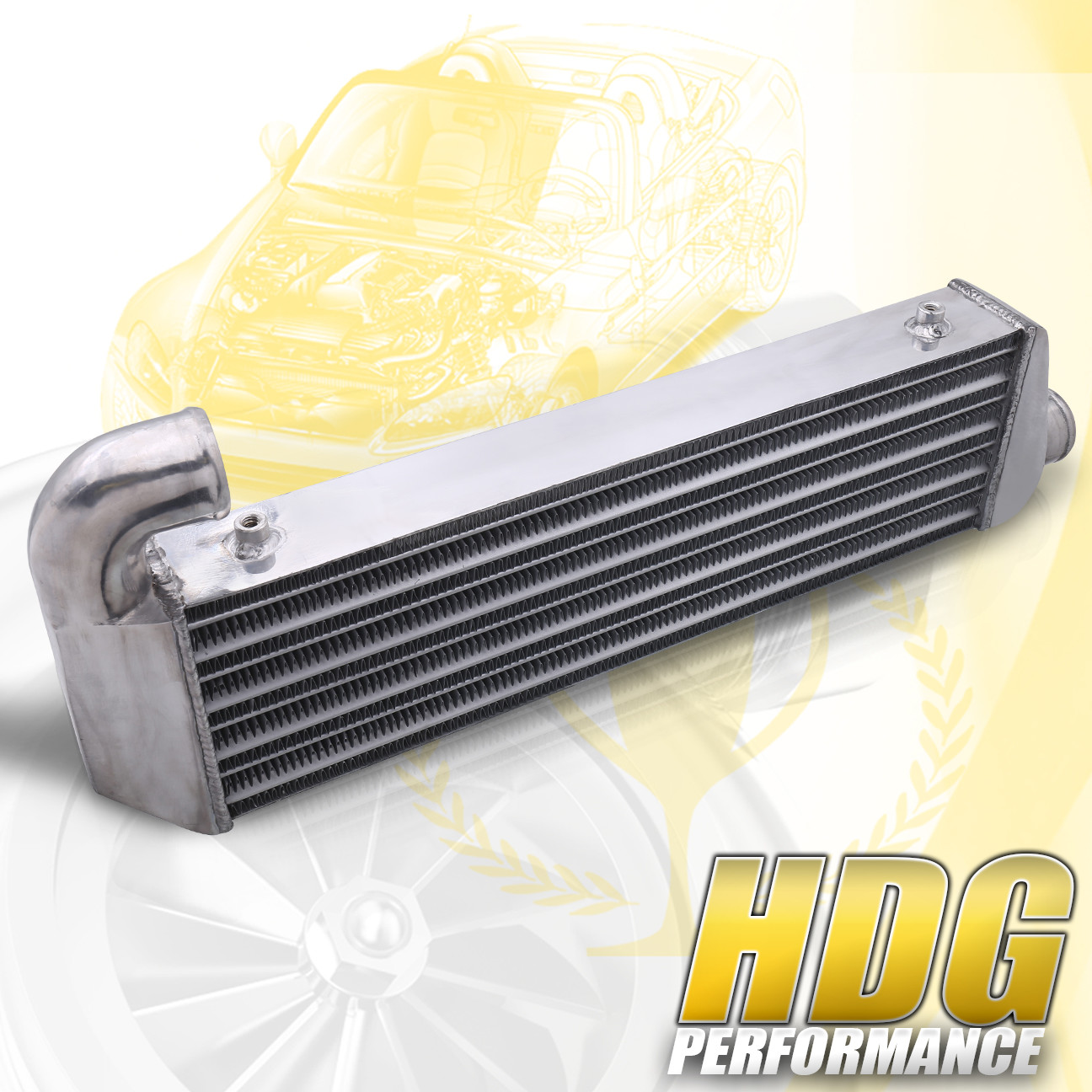 Tube Fin Front Mount Turbo Intercooler Upgrade For 02-06