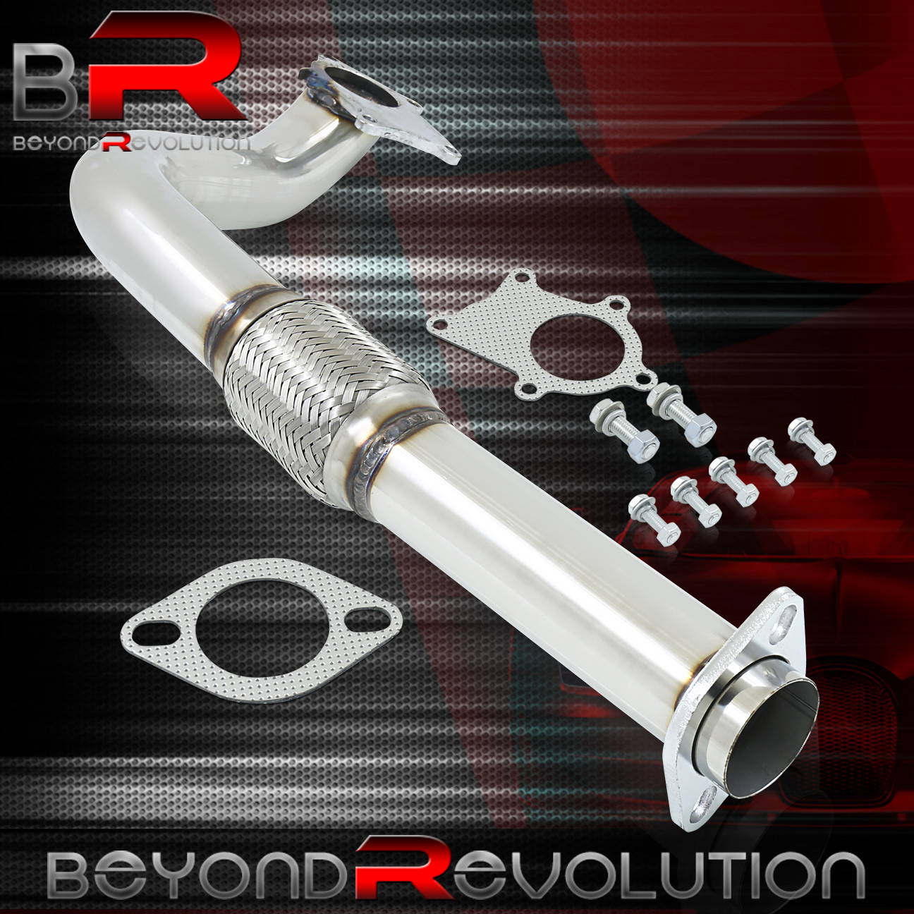 """For 2002-2006 Acura RSX K20 Racing 3"""" Exhaust Turbo Down"""