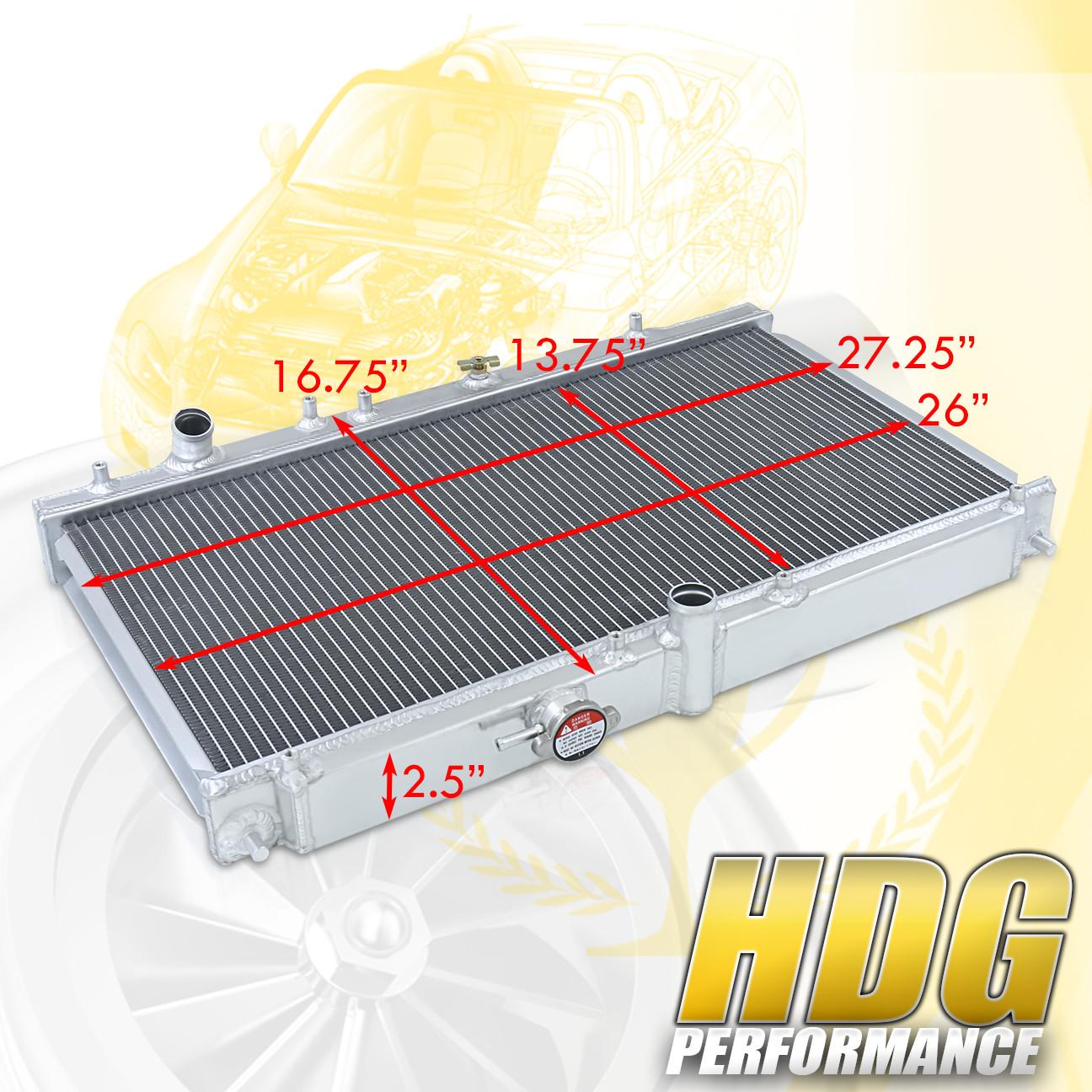 FOR PRELUDE 97-01 Manual Performance Racing Aluminum Radiator 2 Row 9701-005