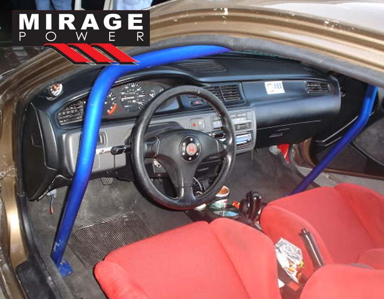 6 Point Blue Racing Roll Cage Safety Bars For 1992 1995 Honda