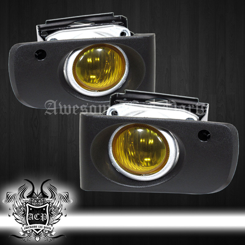 9497 Integra Dc2 Jdm Front Bumper Driving Fog Lights Lamps Yellow
