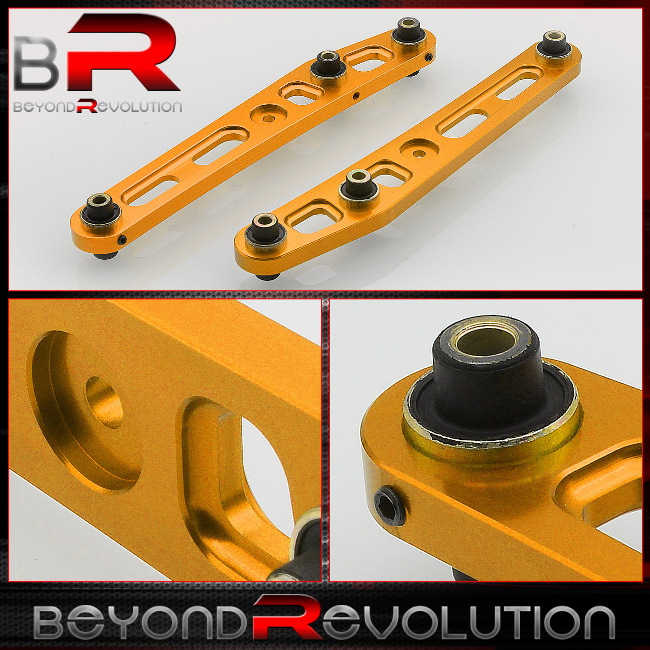 For 94-01 Acura Integra Ls Rs Gs Gsr Gold Rear Lower