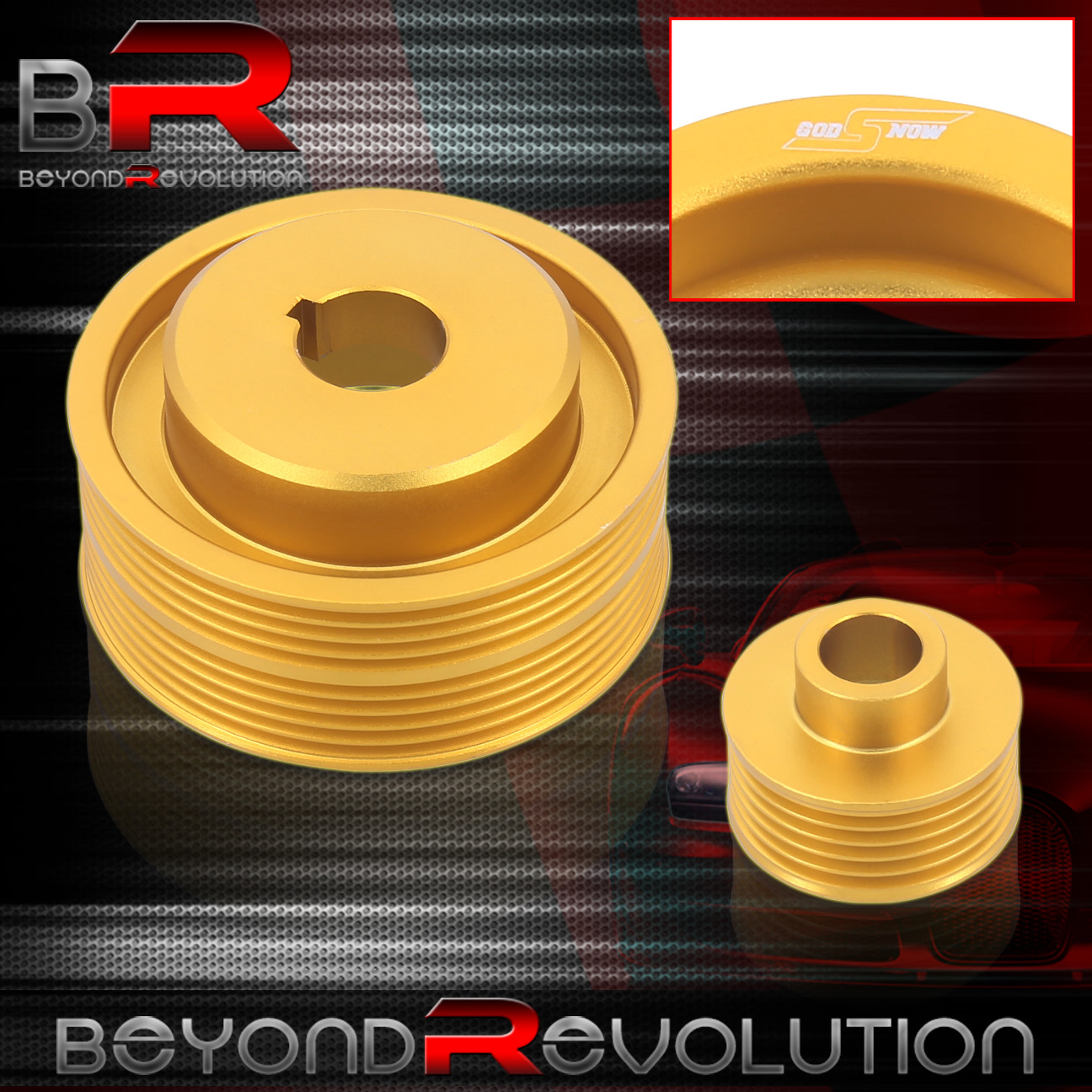 For Subaru Impreza Wrx Gdb Gda Gold Under Drive Crank Pulley Racing Ej20k Jdm Timing Belt Pulleys Performance
