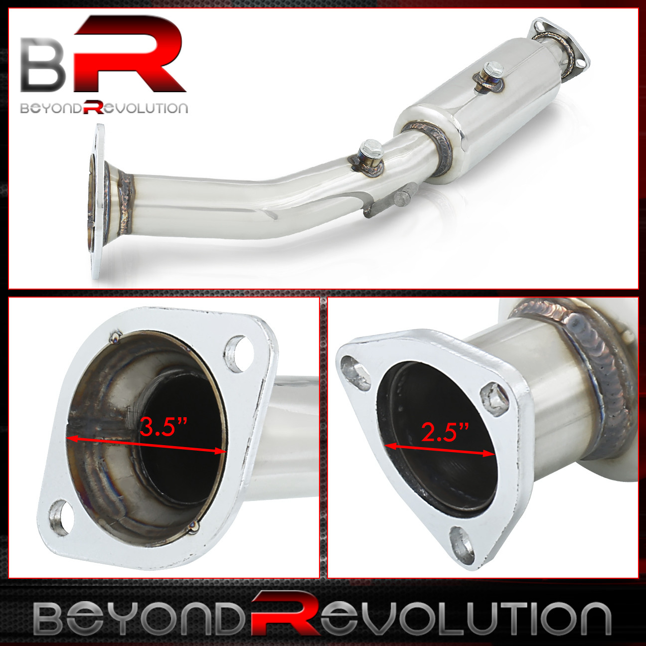 """02-06 Acura Rsx DC5 2.0L Cat Delete Test Pipe Upgrade Stainless Steel 2.25/"""" JDM"""