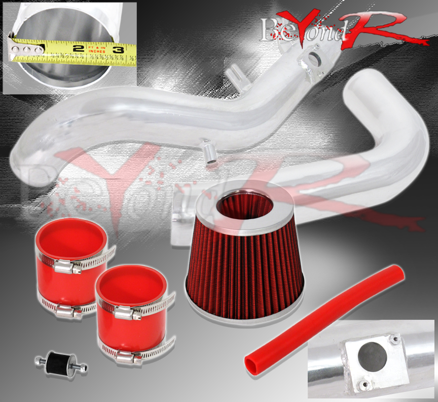 Filter BCP RED 07-10 Scion tC 2.4L VVTi L4 Cold Air Intake Racing System