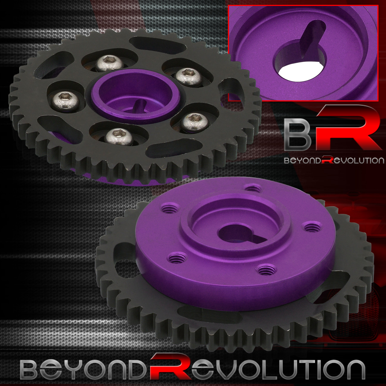 For S13 Sr20Det Dohc Head Aluminum Adjustable Shaft Cam Gear Engine Motor Blue
