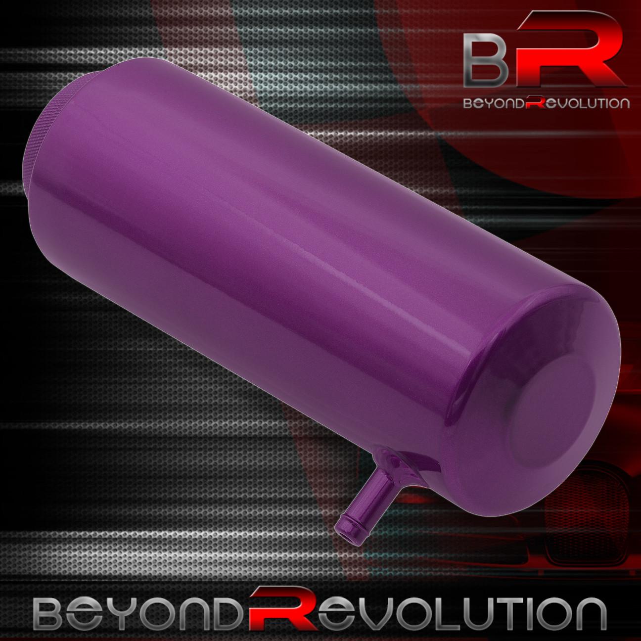 Purple Cylinder Radiator Reservoir Tank Coolant Overflow Hose Can Reserve Jdm
