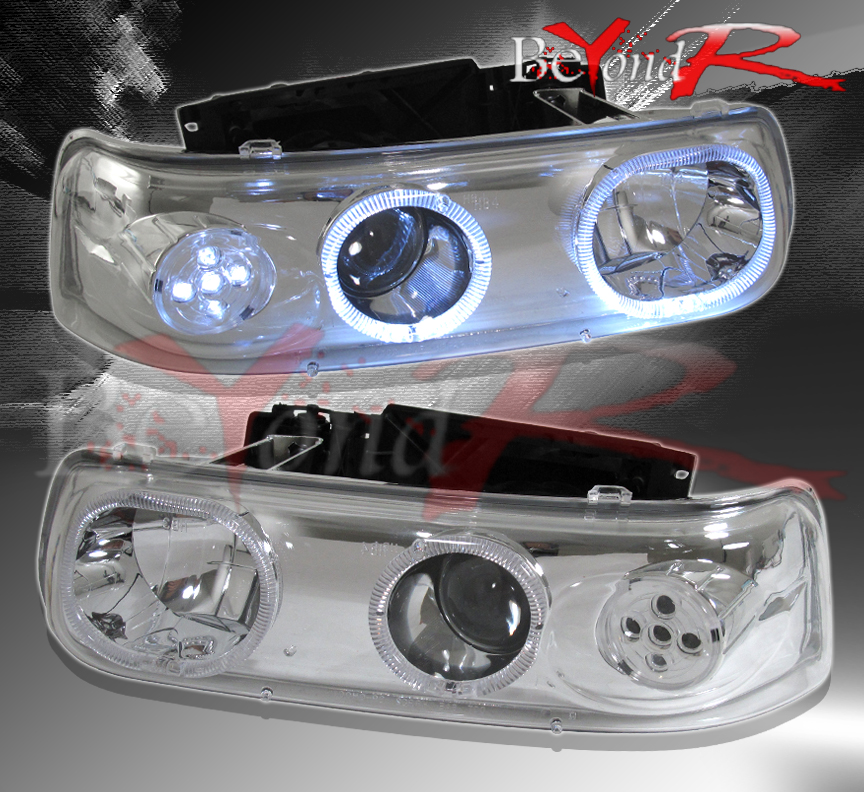1999 2002 chevy suburban silverado tahoe halo led projector lights lamps ebay