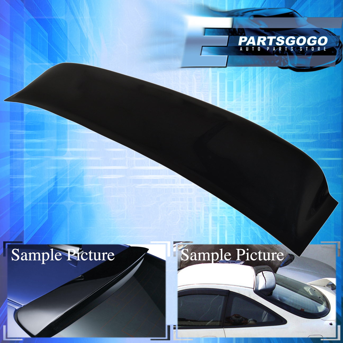 Details about Toyota Camry 92-96 4Dr Rear Windshield Sun Roof Visor Black  With 3M Tape 79a21e89c19