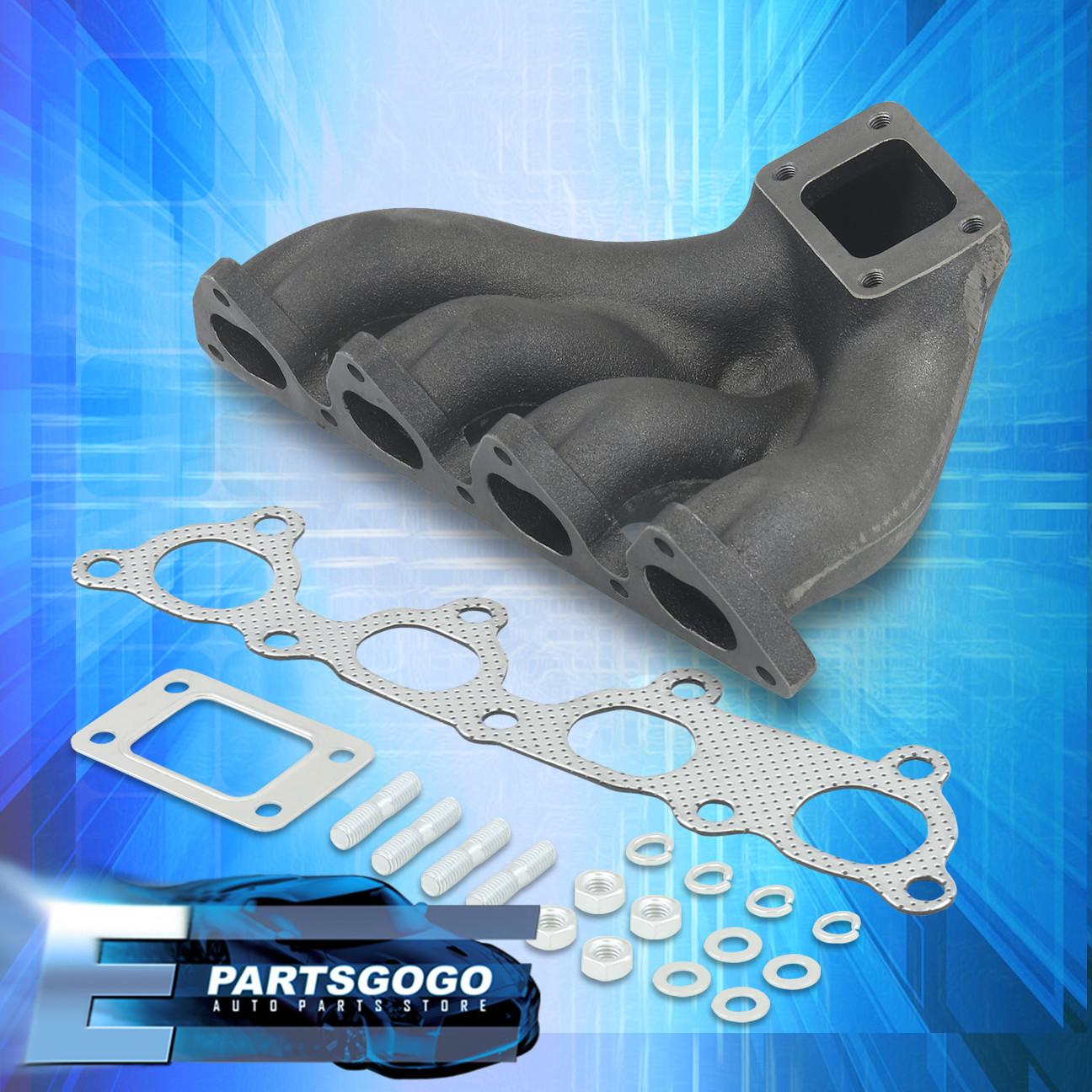 88-00 Civic D15 D16 D15A D16Y Top Mount Cast Iron T3//T4 Turbo Exhaust Manifold