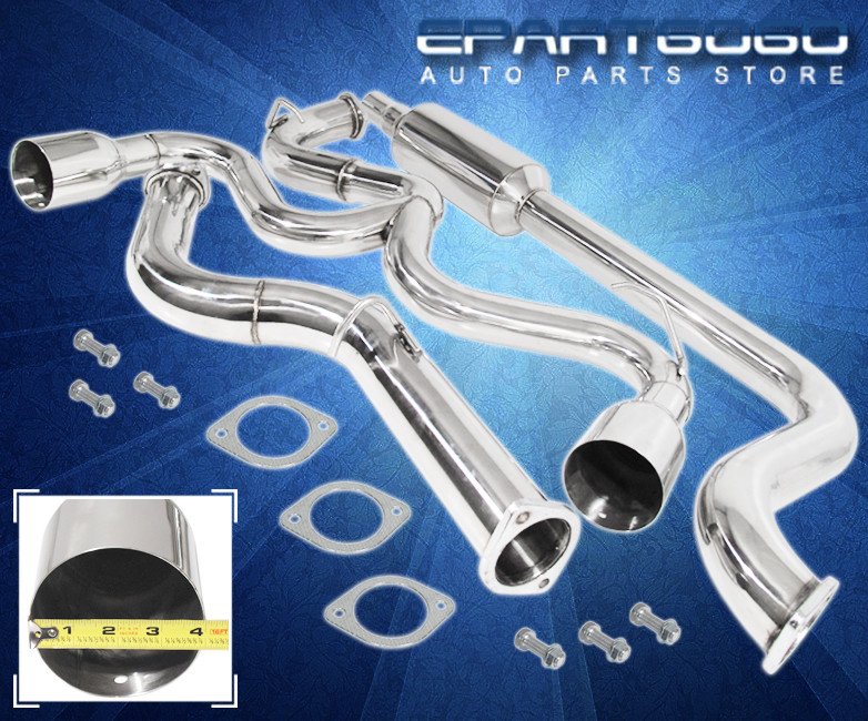 """03-05 Dodge Neon Srt4 2.4L 3/"""" Catback Dual Tip Exhaust System Stainless Steel"""
