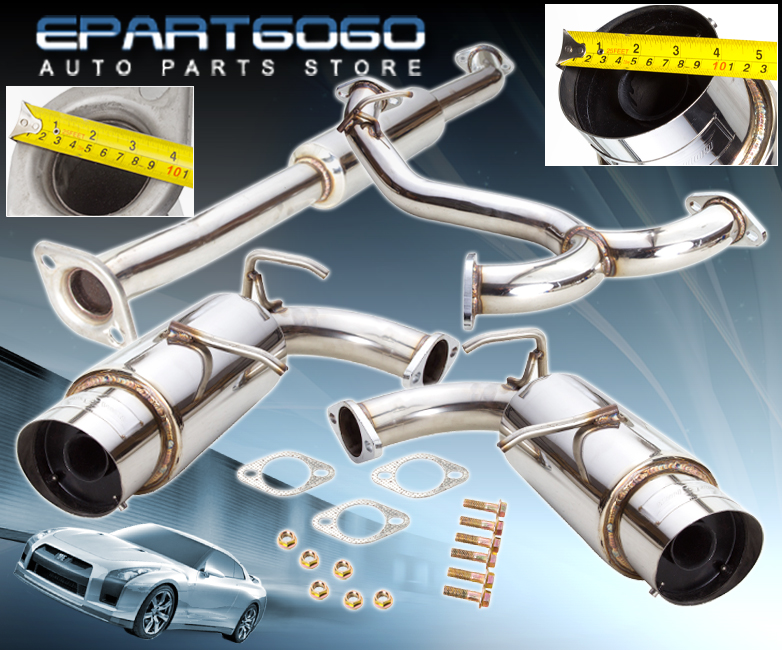 """For 2013-2016 BRZ FRS 86 4/"""" Burnt Tip S//S Piping Catback Exhaust Muffler System"""