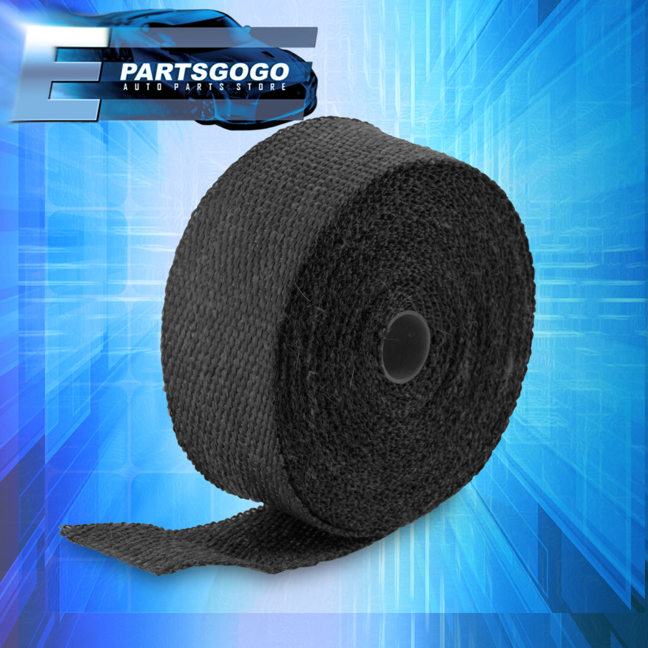 15-Meter Black Exhaust Heat Wrap for Header//Catback//Turbo Manifold//Downpipe