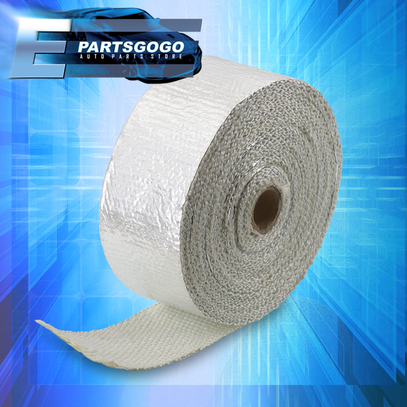 """30Ft X 2/"""" X 1.5mm Mesh Heat Wrap Cover Roll Intake Piping Auto Car Motorcycle Pr"""