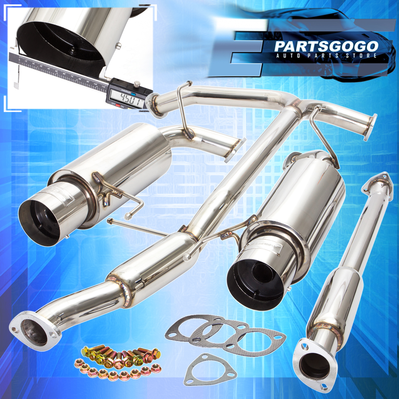 1998 2002 honda accord v6 racing catback exhaust system 4 5\