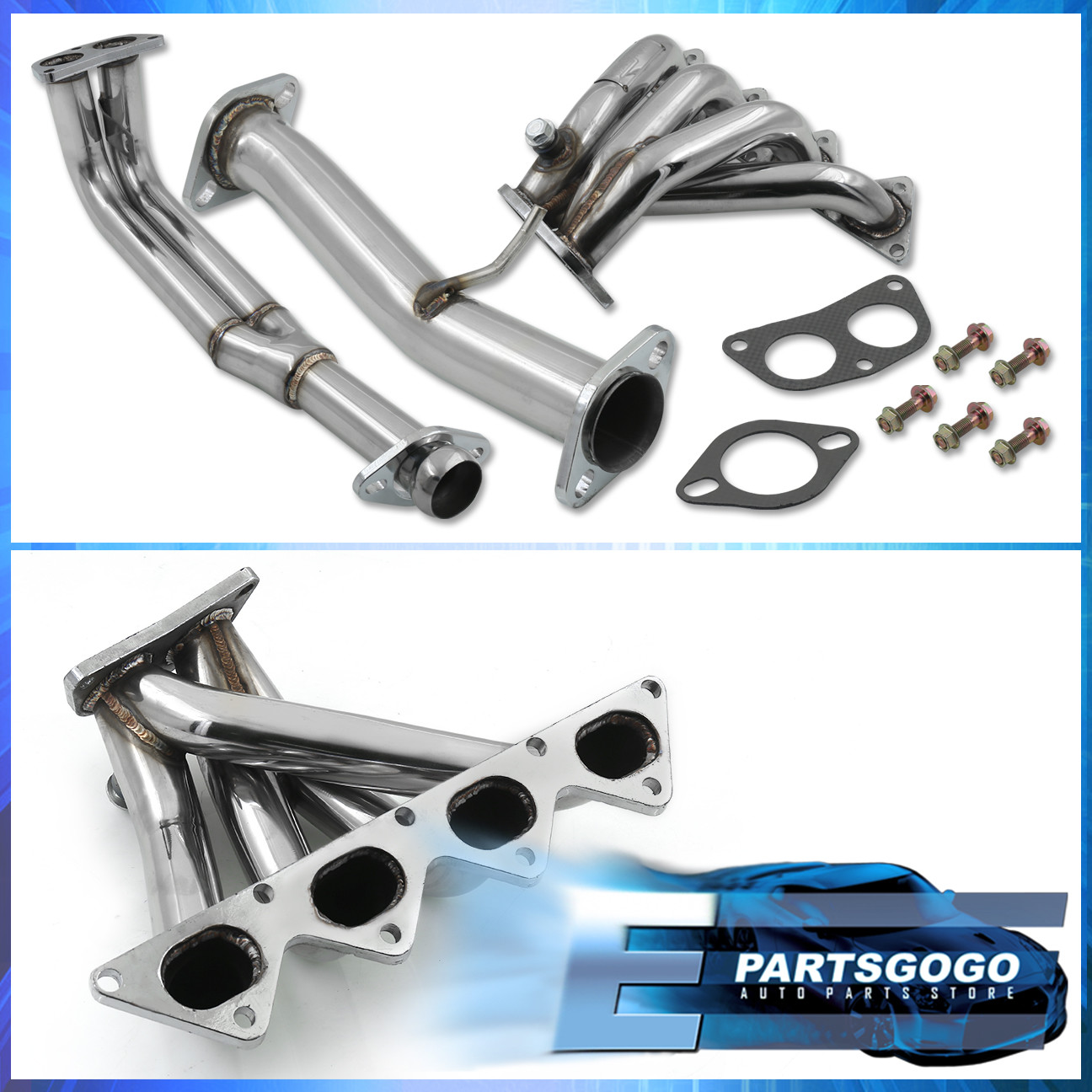 1990-1994 Eclipse Talon Laser Nt Non-Turbo 4-2-1 3Pc Stainless Exhaust Header