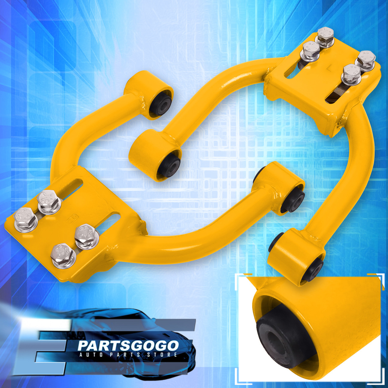 1996 2000 Honda Civic Lx Dx Ex Si Adjustable Front Upper Camber Kit Yellow 2pc