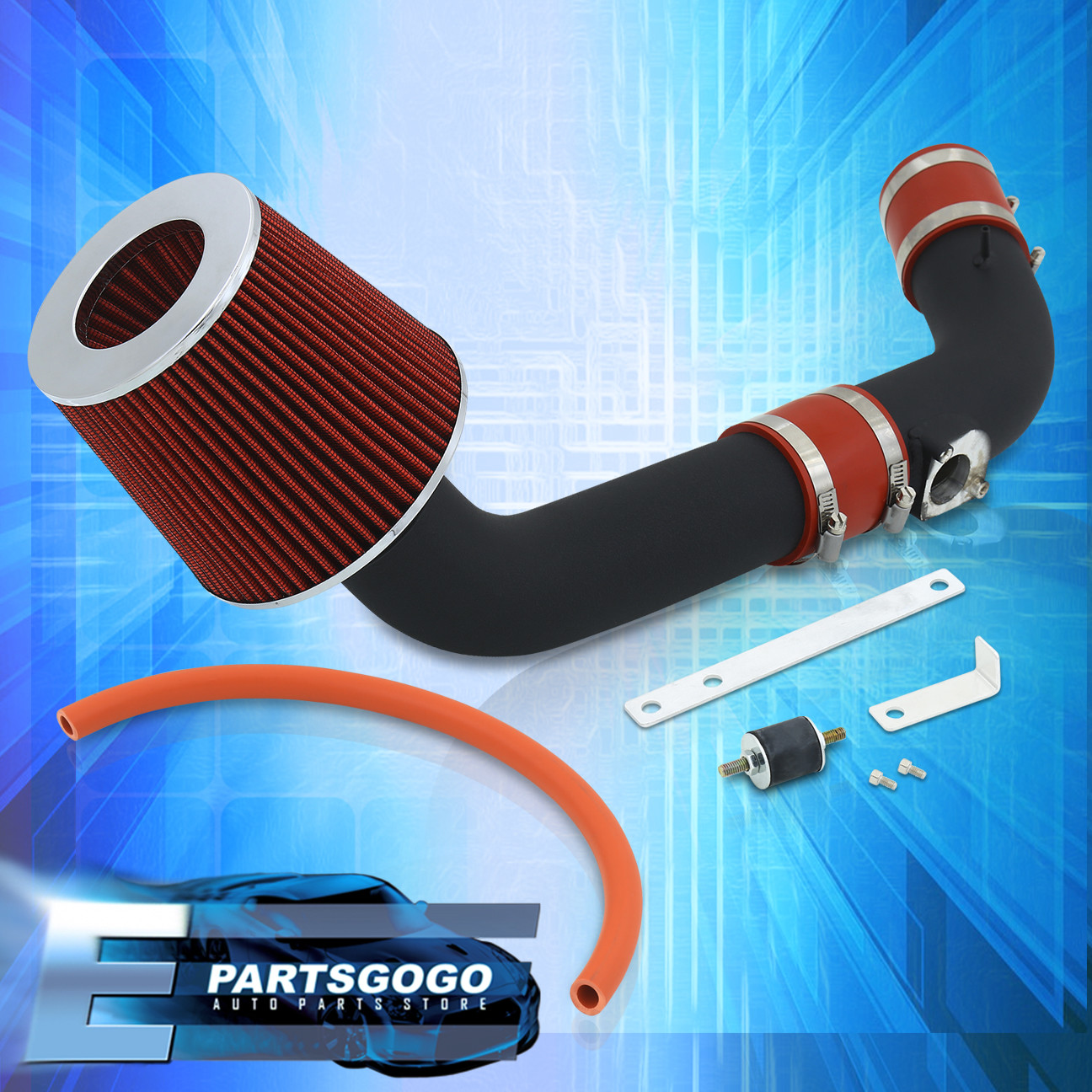 90-93 HONDA ACCORD DX LX EX SE 2.2L INDUCTION COLD AIR INTAKE+FILTER KIT JDM RED