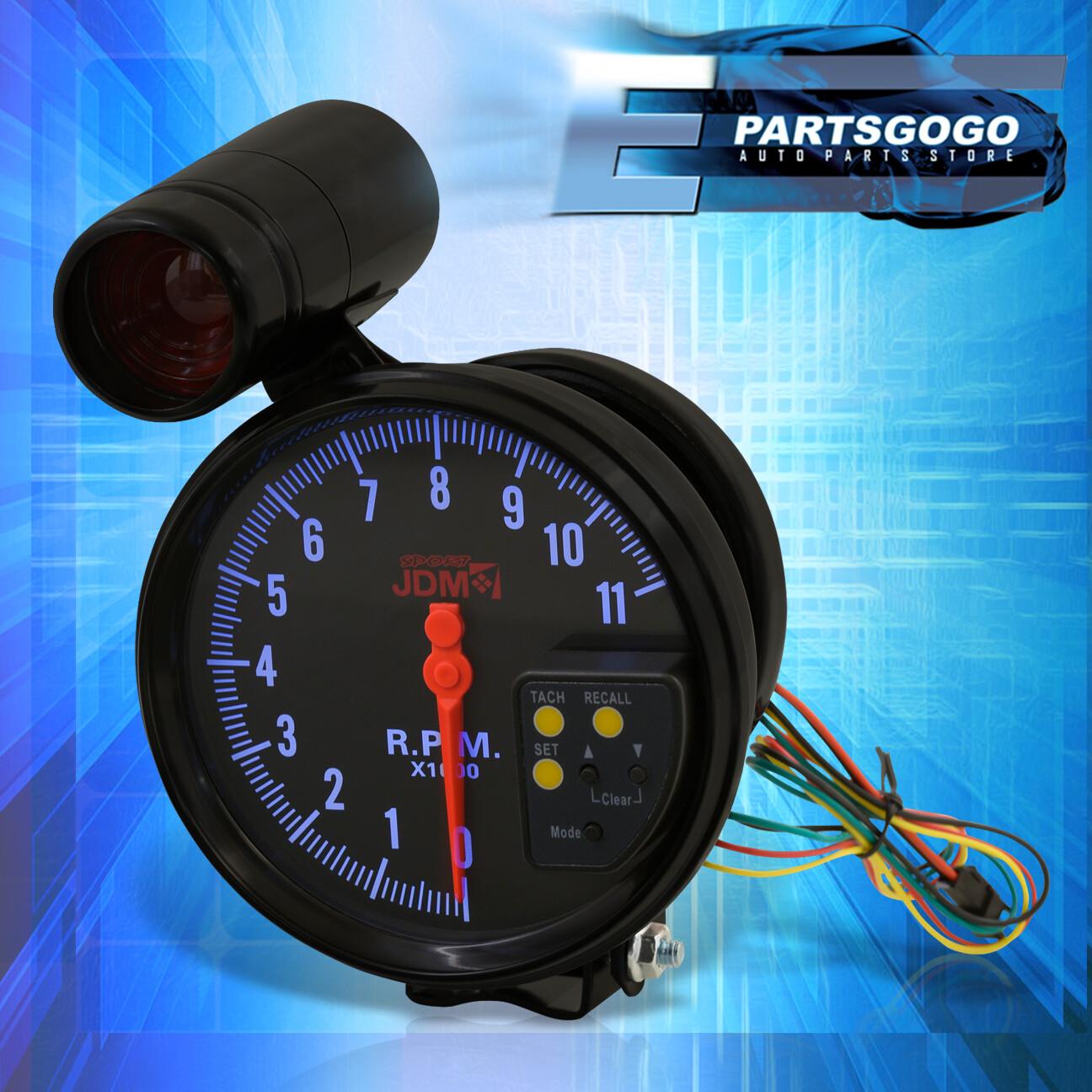 "Jdm 5"" Black Tachometer 11K Rpm Speedometer Gauge + Shift Light Impreza  Eclipse"
