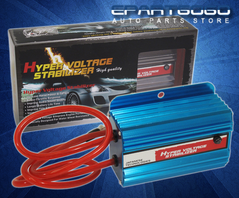 Blue Jdm Hyper Car Battery Voltage Stabilizer Ecu Honda Civic Prelude Accord