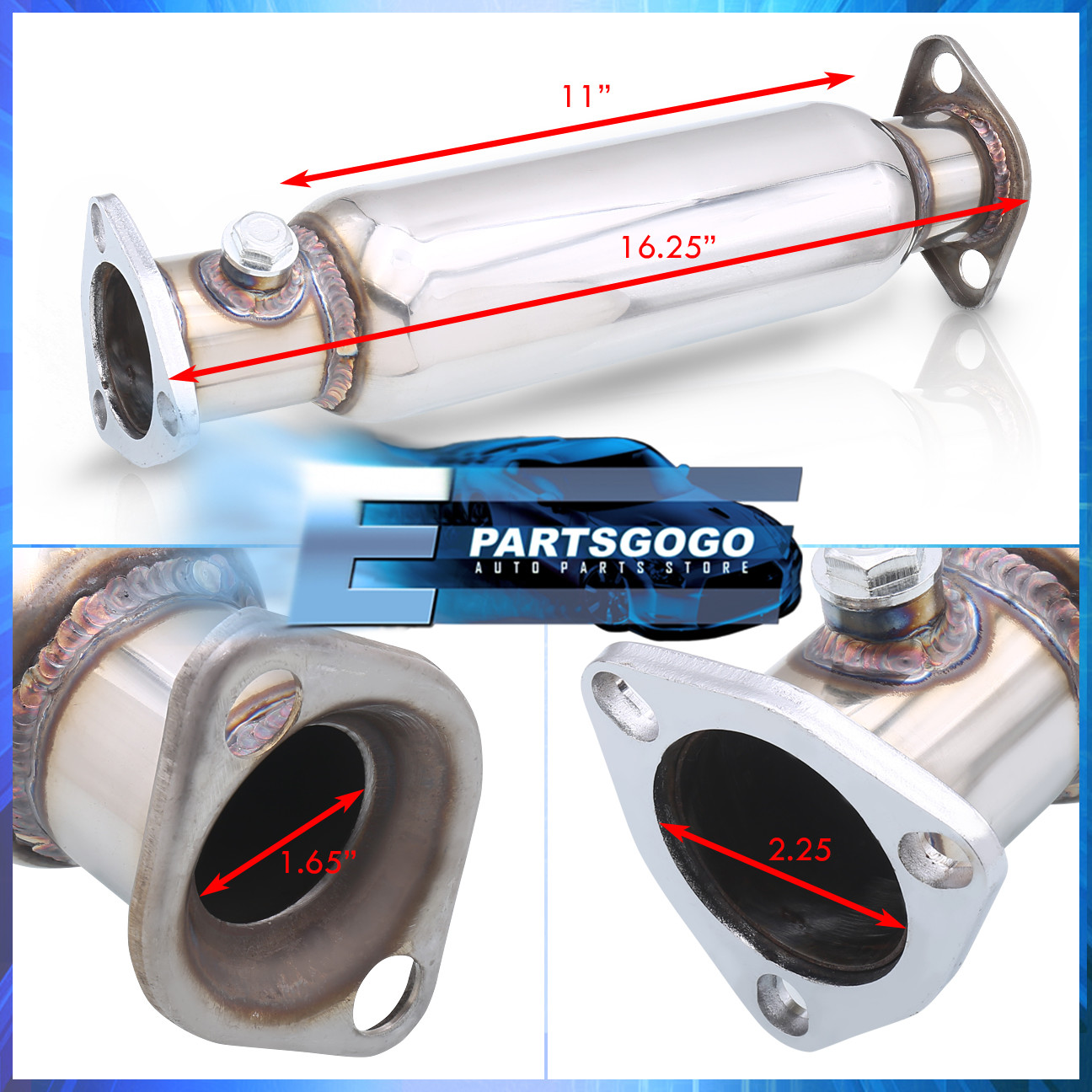 For 94-01 Integra Ls Rs Gs Dc2 Stainless Steel High Flow