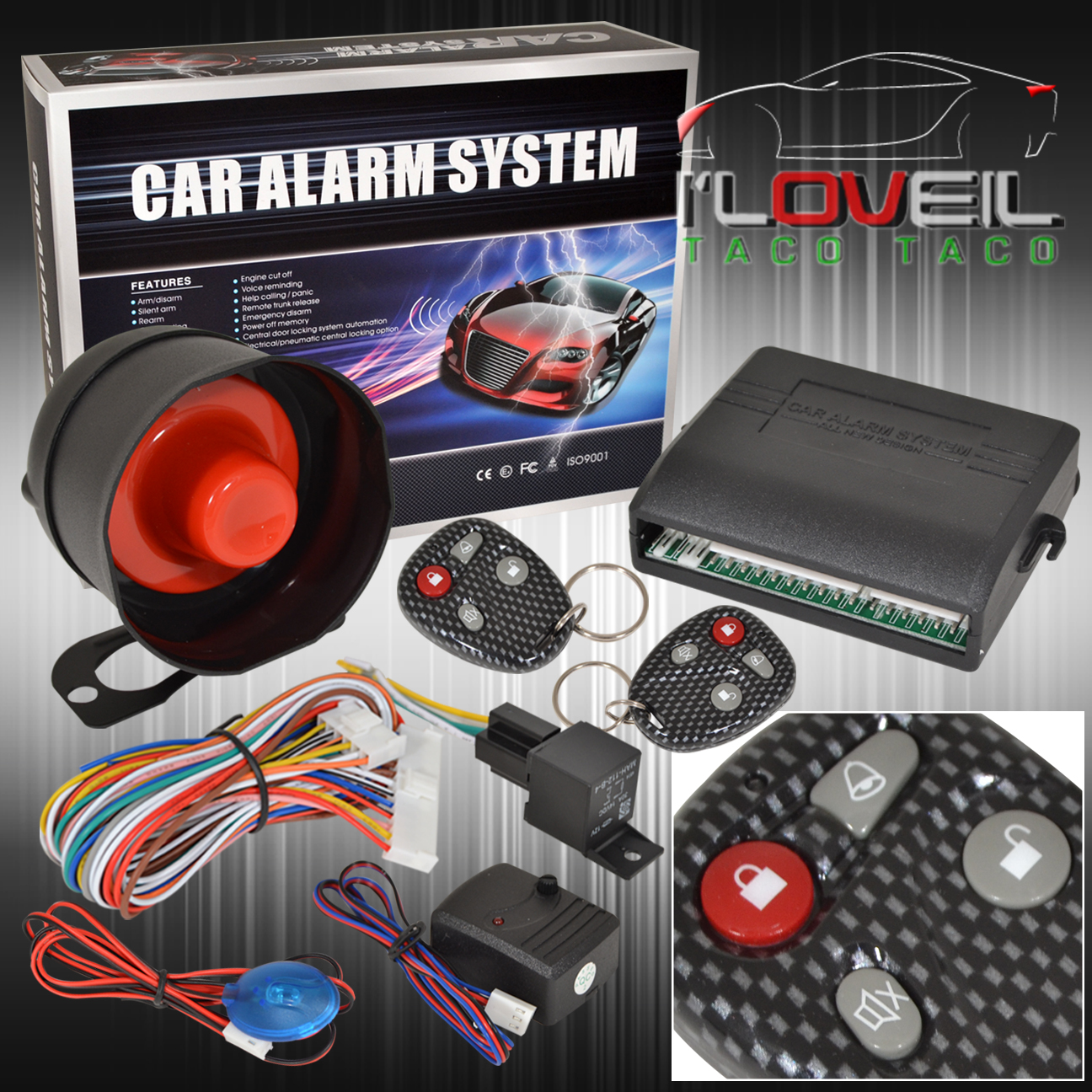 New Jdm Mitsubishi Scion Eagle Security Remote Car Alarm System 2 Wiring Devices Philippines Carbon Keys Ebay