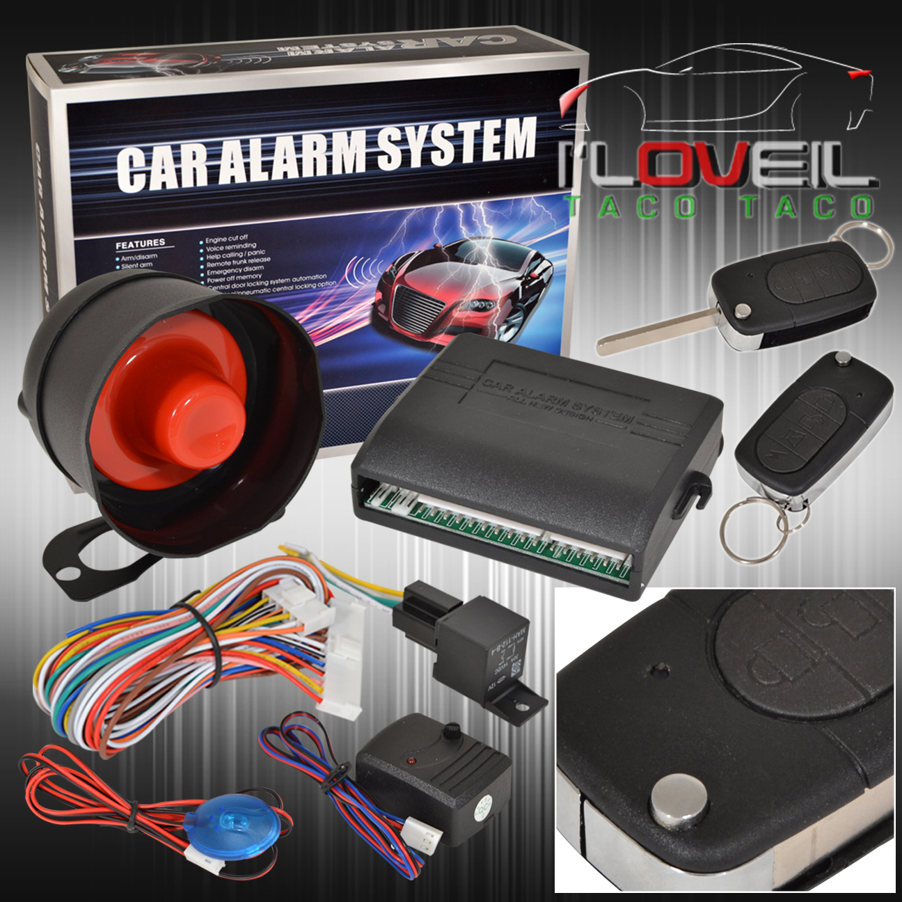 Jdm Car Alarm Security System Remote Transmitters With Flip Keys For  Mitsubishi