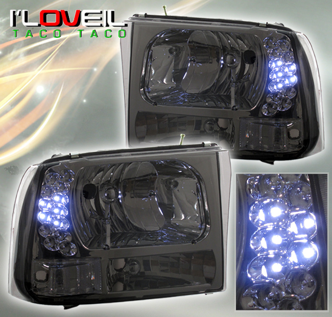 1999 F350  Excursion Smoked Lens Led