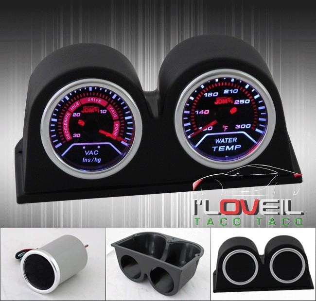 Racing Water Temperature Gauge 100-300 Fahrenheit Led Display For Infiniti Smoke