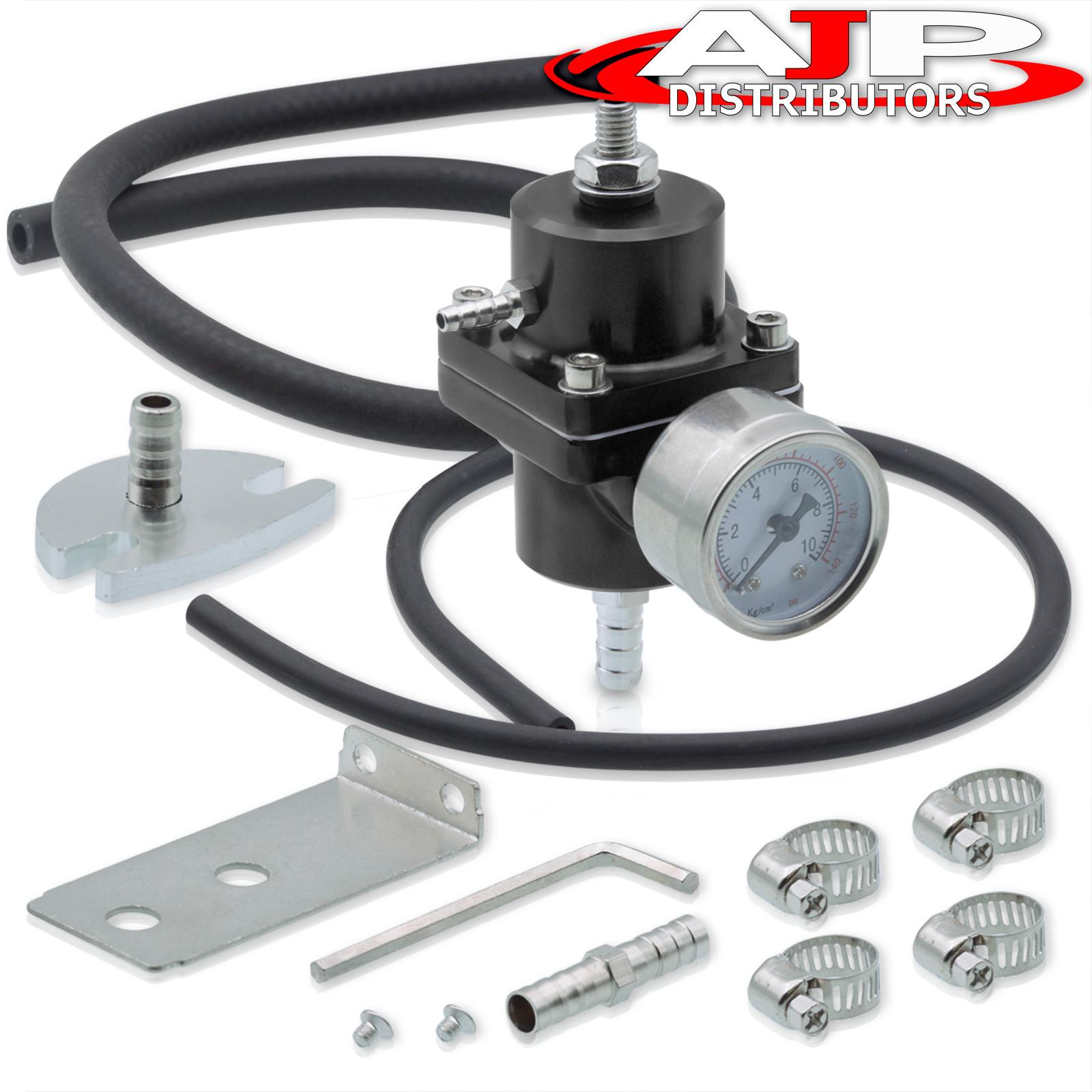 Gauge For Honda Acura 6An Fitting Inlet Outlet Fuel Pressure Regulator Unit