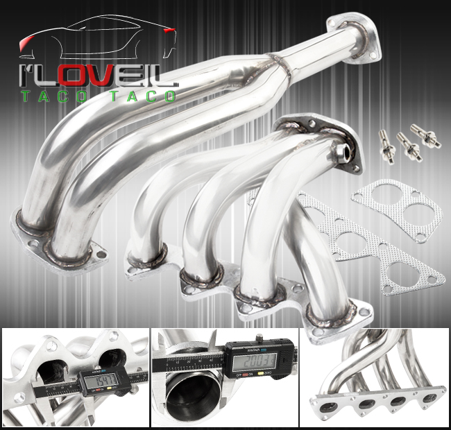 FOR ACURA INTEGRA 90-91 RS//LS DA6 T-304 STAINLESS STEEL HEADER//EXHAUST MANIFOLD