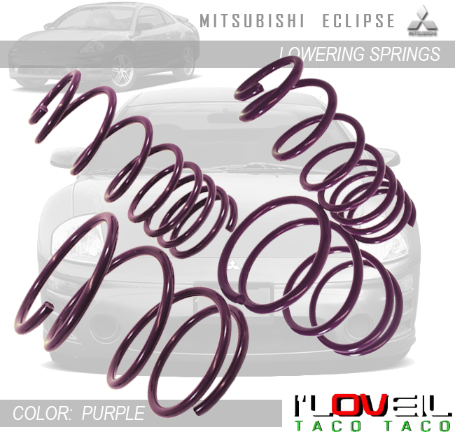 Mitsubishi Eclipse 3G Suspension Racing Coil Drop Lower Lowering Sport Spring Kit Green