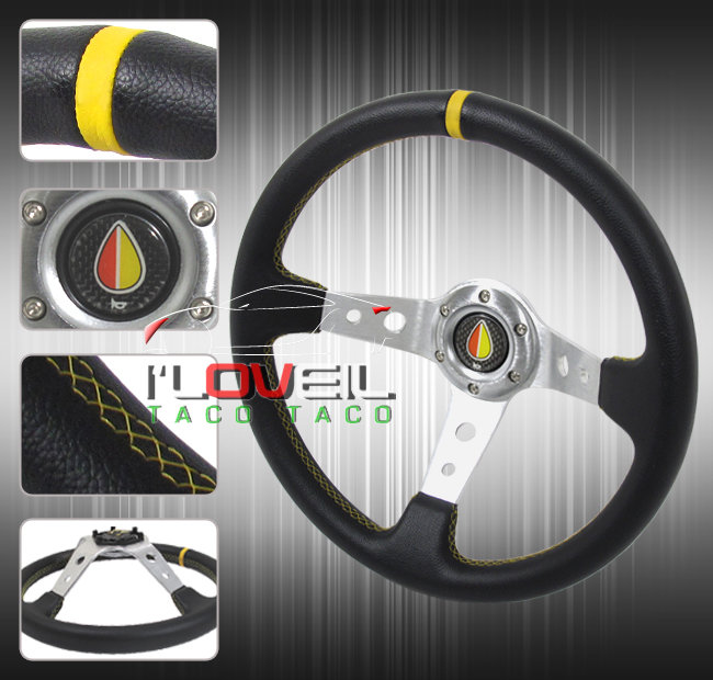 Acura 350mm Chrome Center Deep Dish Racing Steering Wheel