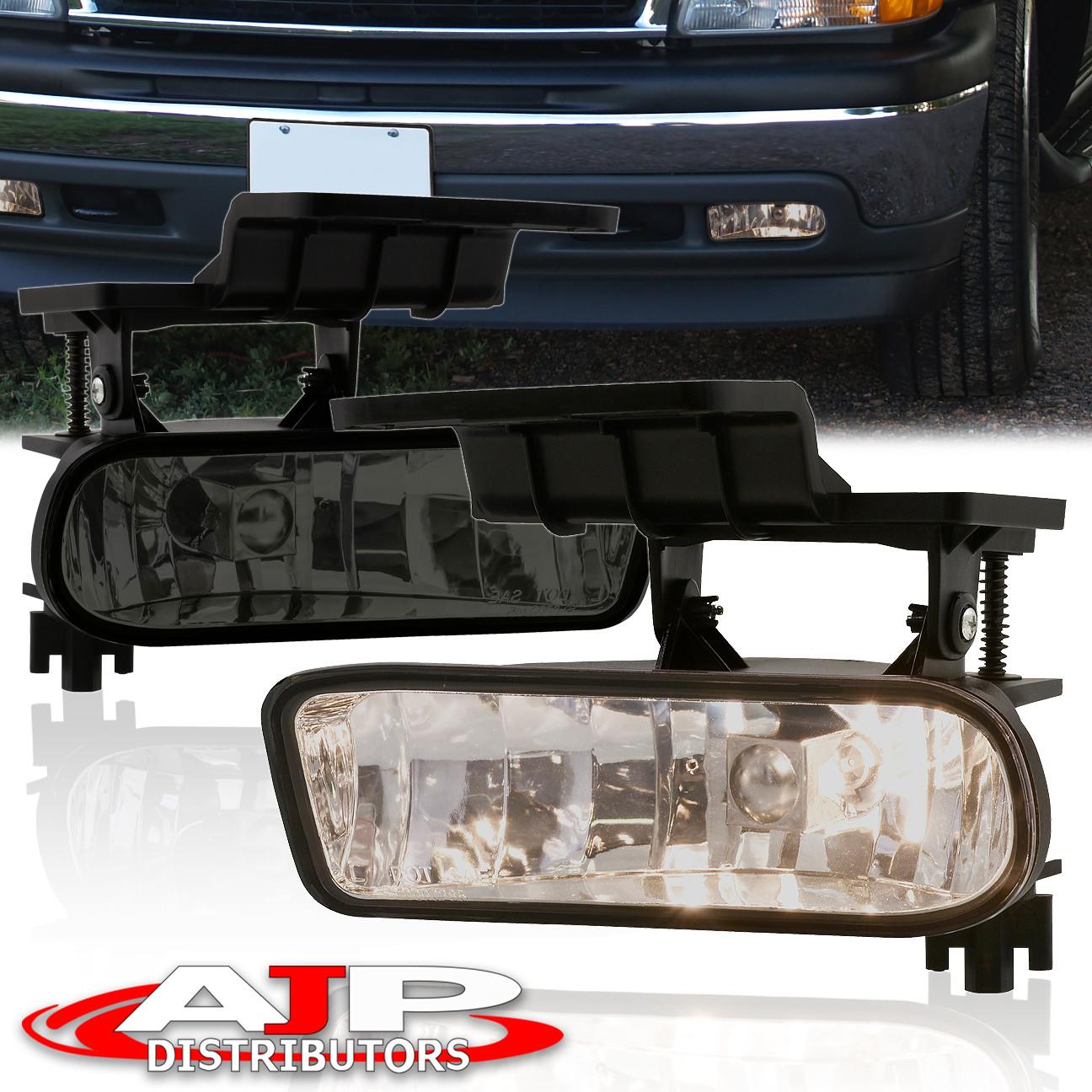 99 02 silverado 00 06 suburban tahoe smoked lens front driving fog lights ls ebay