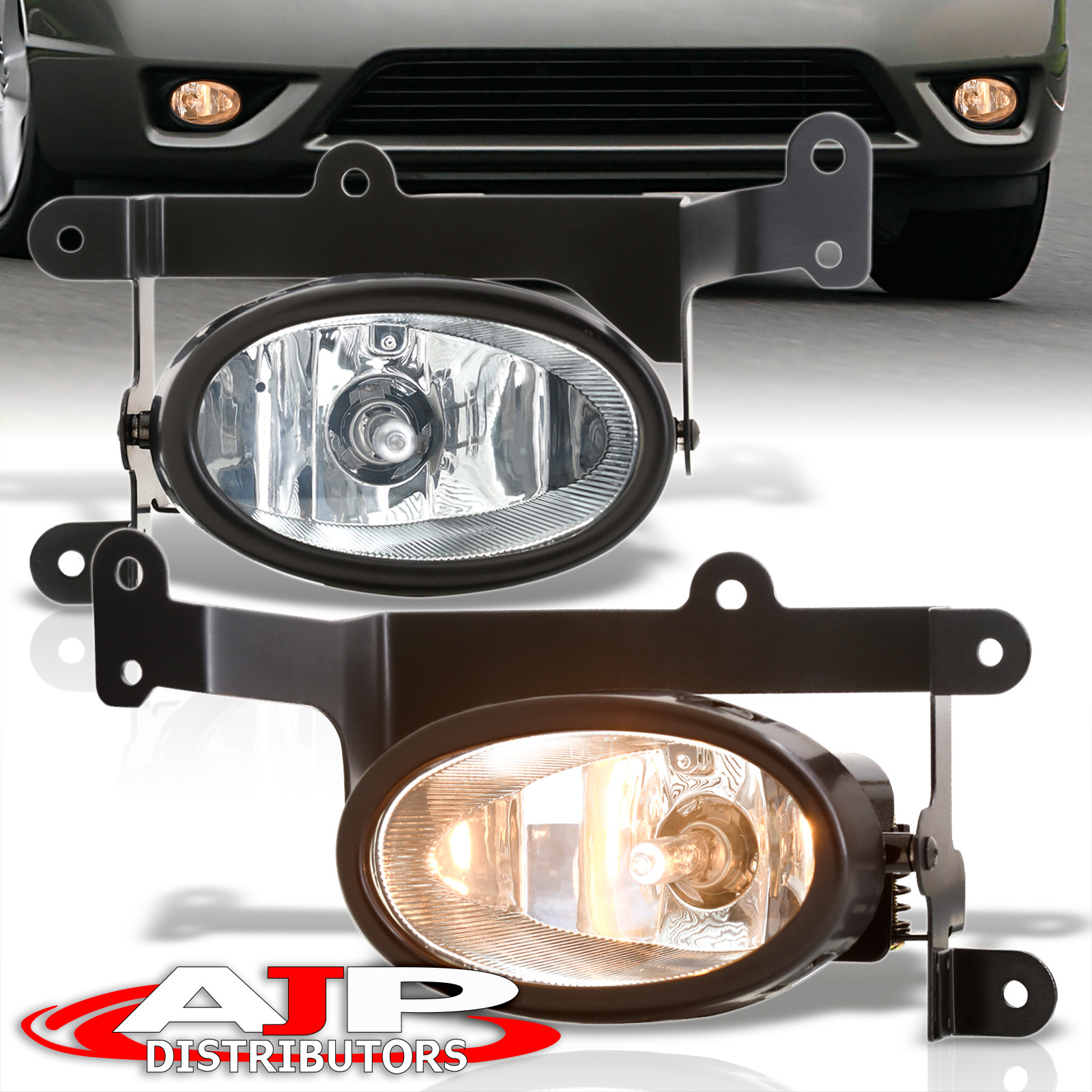 06 07 08 Honda Civic Lx Ex Dx Si 2d 2dr 2 Door Clear Fog Lights W Wiring Harness Coupe Kit