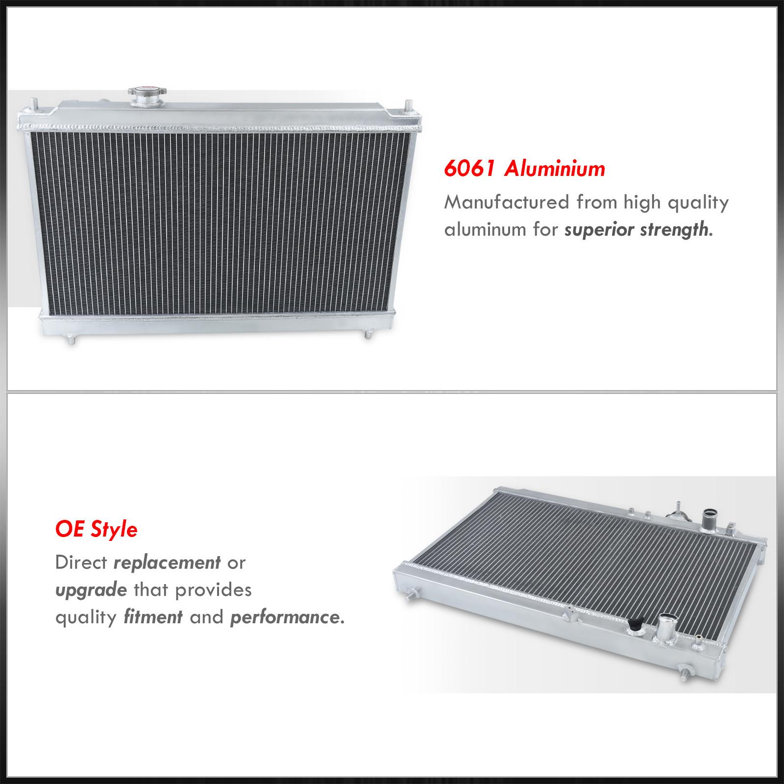 Manual Transmission Dual Core Aluminum Radiator For 1994 Manual Guide