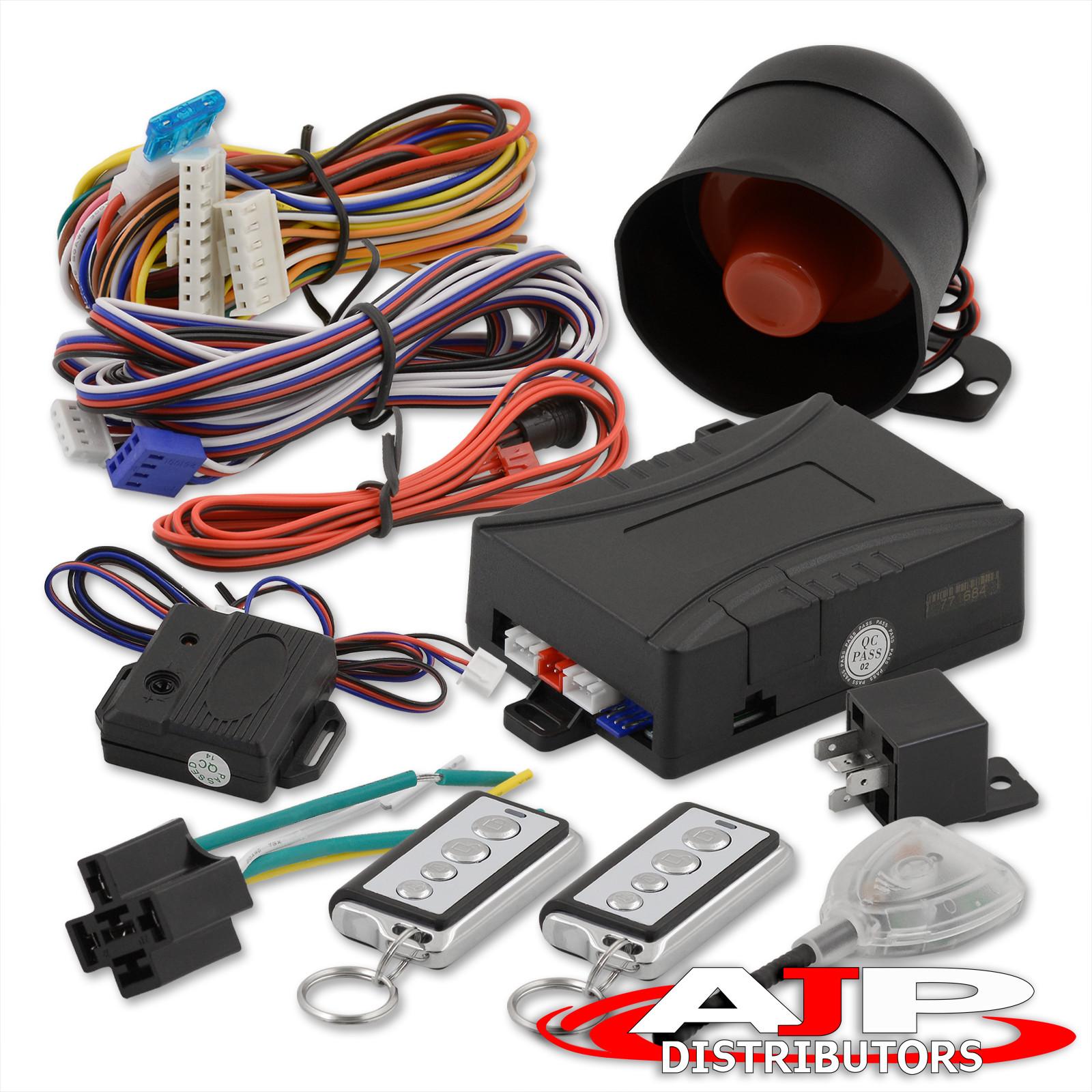 Jdm Remote Engine Start Car Alarm Security System W/ Wiring Celica Mr2  Corolla | eBay