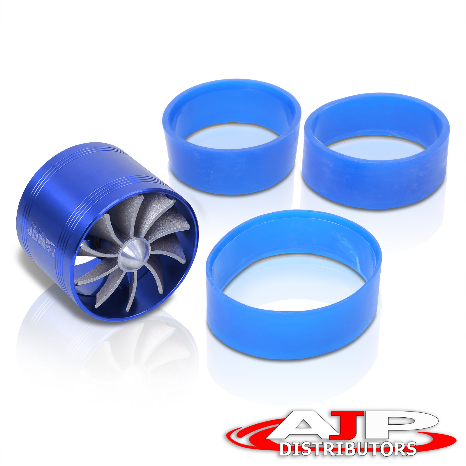 "Blue Turbonator 3/"" Ram Cold Air Intake Fuel Gas Saver Single Fan For Subaru"