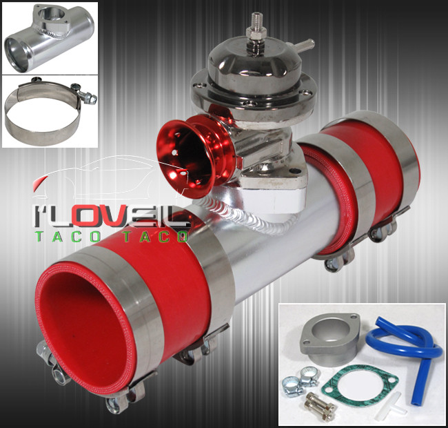 """2.5/"""" Polish 304 Stainless Steel Pipe Turbo TYPE-RS BOV Blow Off Valve Silver"""