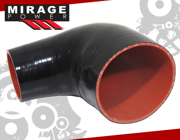 2.75 to 3 Red 45 Degree Elbow 3-Ply Silicone Hose for Turbo//Intercooler//Intake Piping