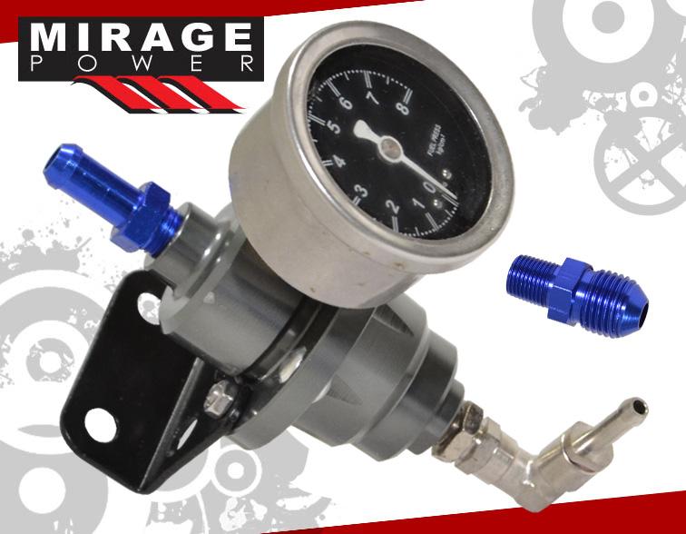 1 1 adjustable fuel pressure regulator assembly unit water filled gauge jdm. Black Bedroom Furniture Sets. Home Design Ideas