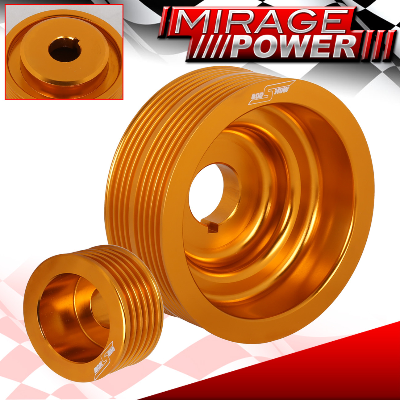 For Subaru Impreza Wrx 7 8 9 20l Turbo Jdm Gold High Under Drive Ej20k Timing Belt Pulleys Crank Pulley