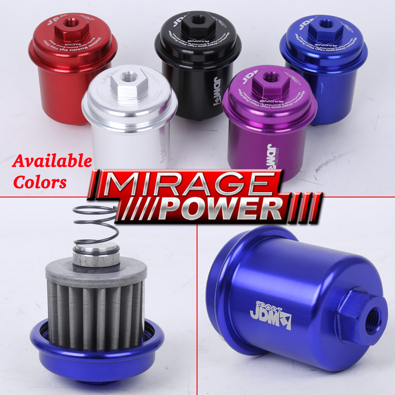 Jdm Sport High Flow Fuel Filter Toyota Supra Camry Corolla Fully Location Rebuildable