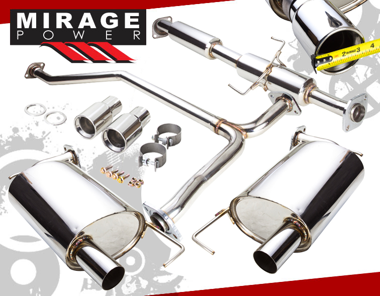 0207 Mazda 6 23l L4 High Performance Muffler Catback Exhaust System Jdm Bolts: 2004 Mazda 6 Cat Back Exhaust At Woreks.co