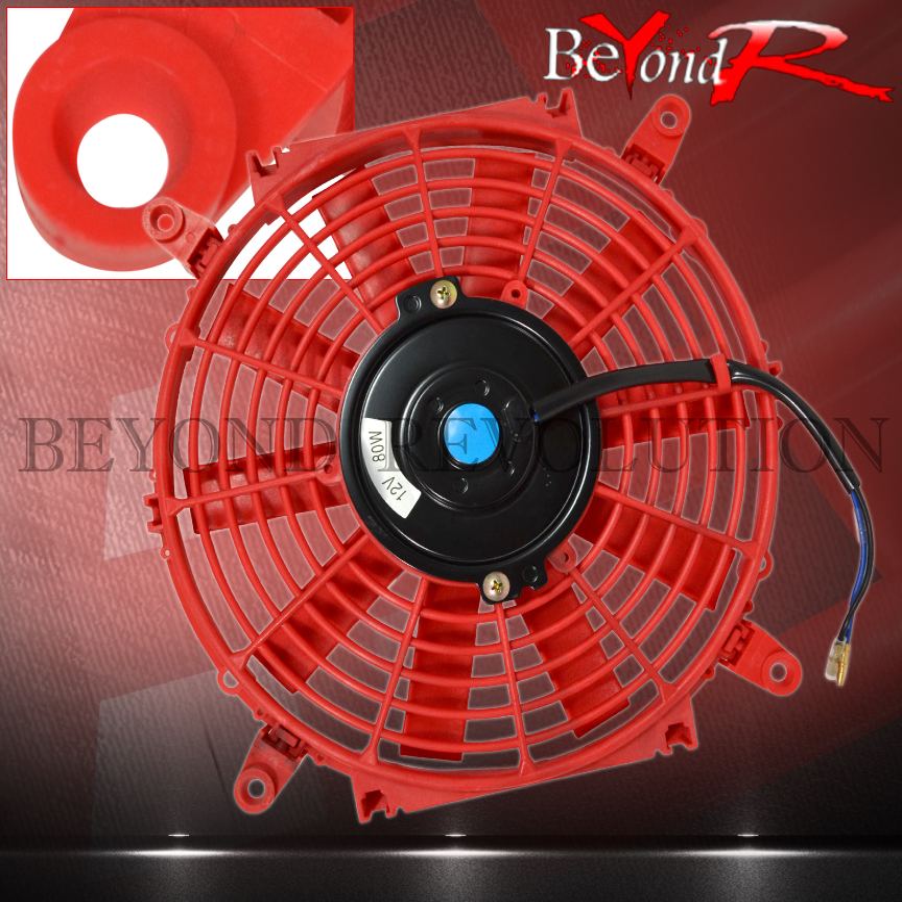 "12/"" Blue Radiator Thin Slim Fan Push//Pull With Radiator Zip Tie Kit D15 D16 B18"