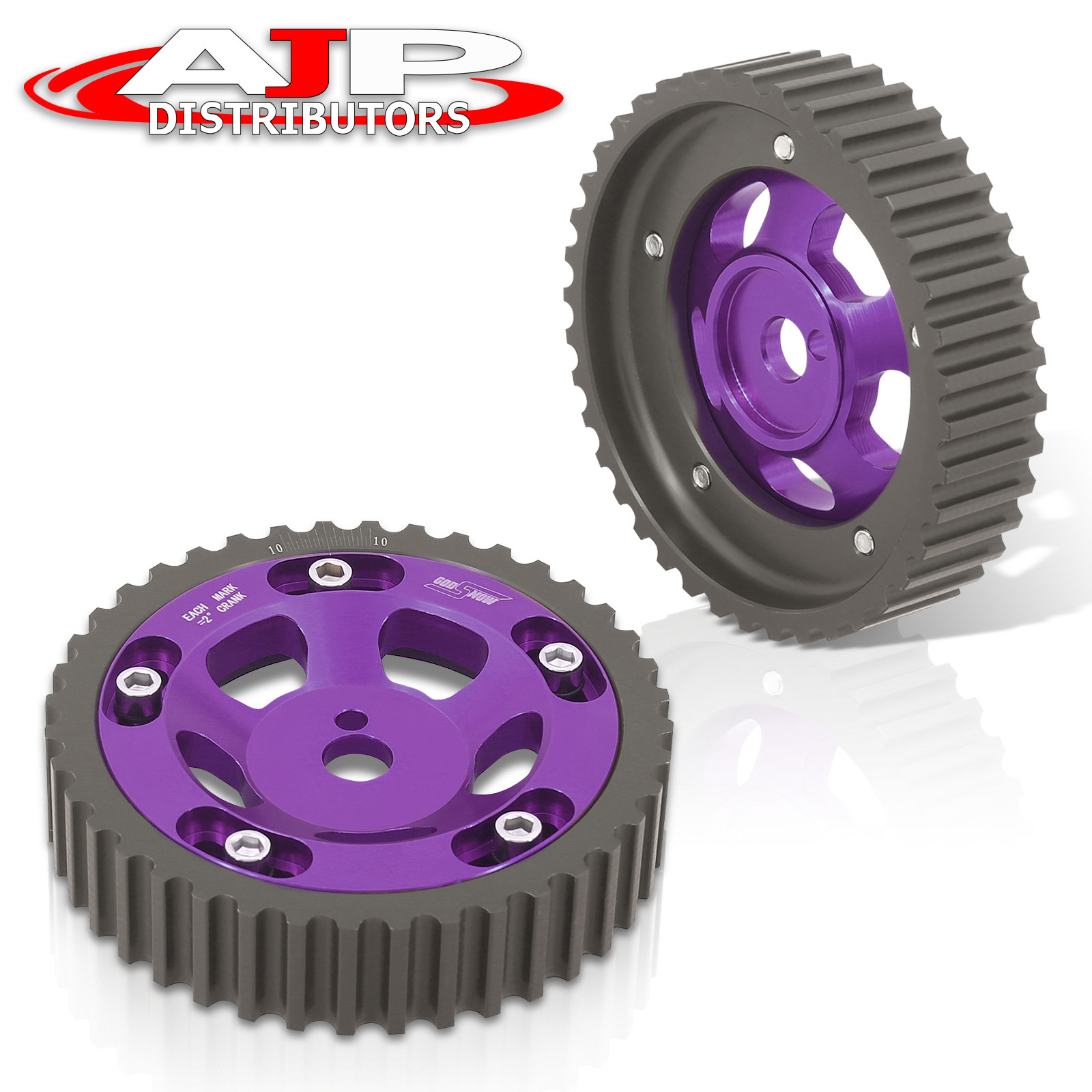New 4G15 Engines Adjustable 1 Piece Aluminium Sprocke Camshaft Cam Gear Purple