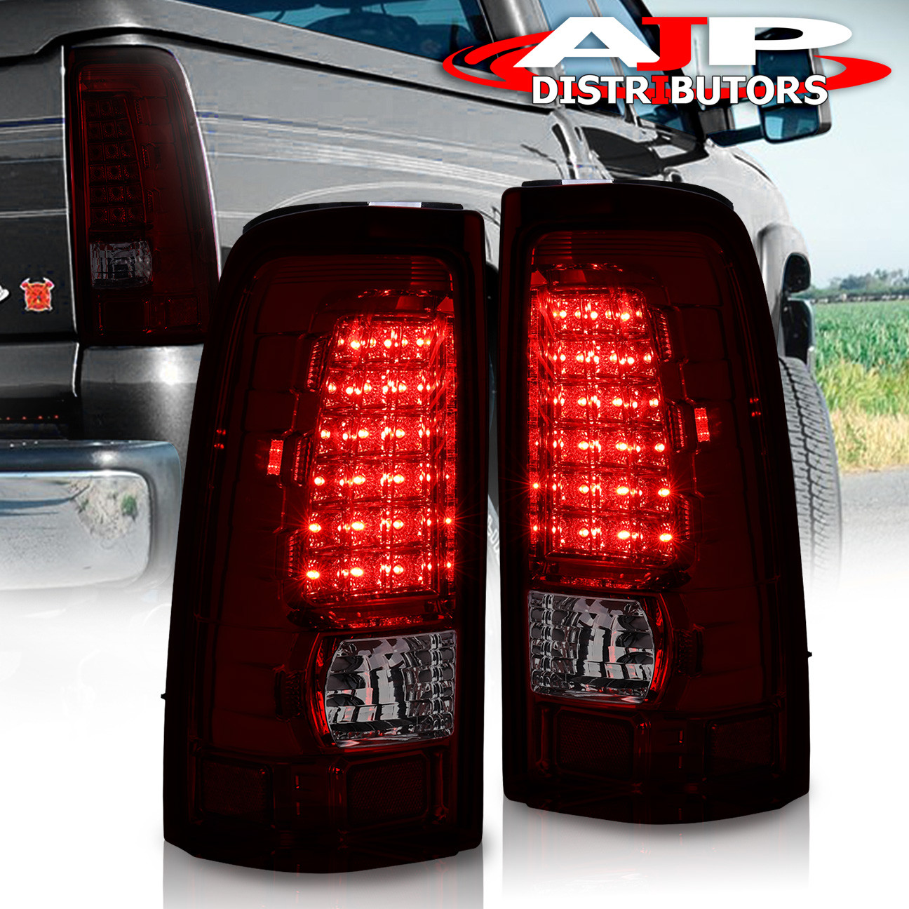 Details About For 99 06 Chevy Silverado 1500 2500 Hd Led Tail Lights Rear Lamps Smoked Red