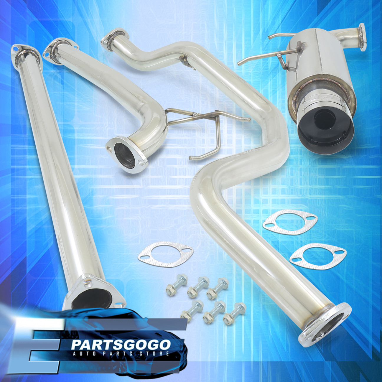"94-01 Acura Integra Dc2 Gsr 1.8L Catback Exhaust System With 4.5/"" Burnt Tip"