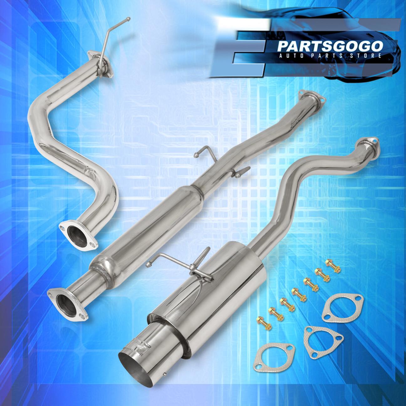 "Jdm Catback Exhaust 4.5/"" Muffler Burned N1 Tip For 94-01 Acura Integra Ls//Rs//Gs"