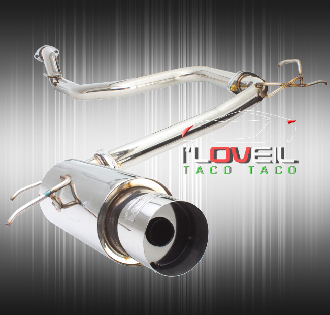 """Stainless Steel Performance Catback Exhaust 65mm 4.5"""" Tip"""